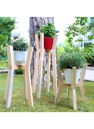 Saksı Ayağı Ağaç Üçlü Set-LaMoneta